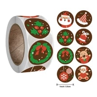 500pcs christmas tree elk christmas gift sealing stickers merry christmas decorations new year party gift decor stationery label