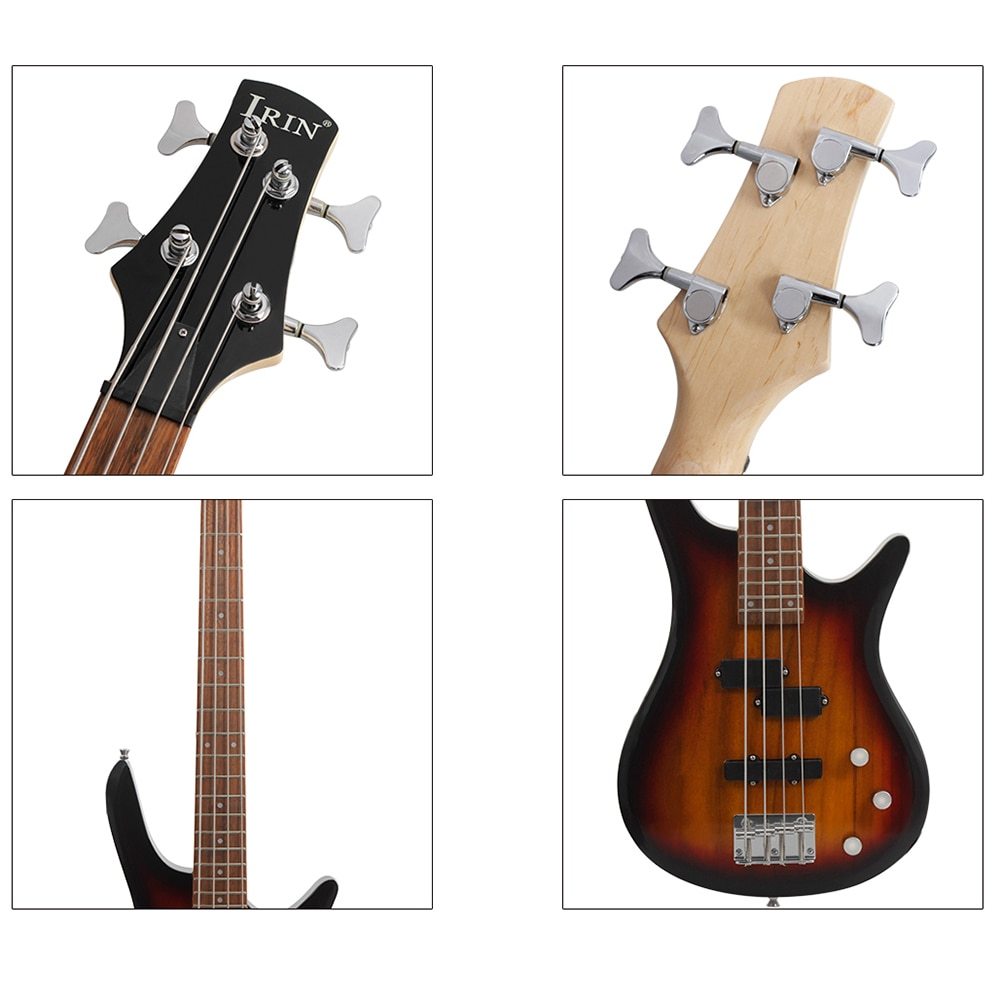 M MBAT 4 String Electric Bass Guitar Pick Up High Gloss Acoustic Bass Black Colorfull Bass Guitar Strings Instrument With EQ enlarge