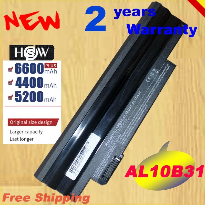 HSW Spezielle preis 6 zellen Akku für Acer Aspire One 722 AO722 D257 D257E AL10A31 AL10G31 schnelle versand