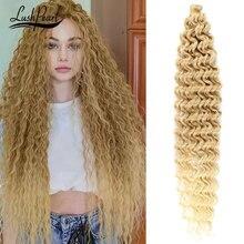 22/28/30/32 inches Deep Wave Twist Crochet Hair Extension Afro Curls Goddess Ombre Braiding Hair Syn