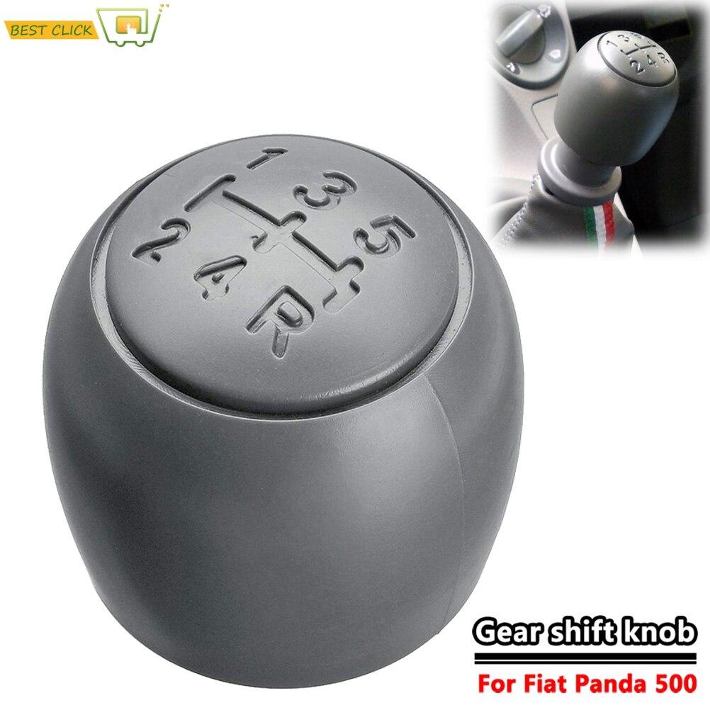 5 Speed Shift Vara de engrenagem Shifter Knob Handball Para Fiat 500 500c 2007-2013 / 2003-2012 Panda
