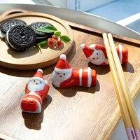 hot new cute chopsticks rack holder stand ceramic santa chopsticks stand rest chopsticks rest rack fashion kitchen tableware