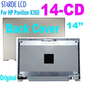 14'' Rear LCD Back Cover for HP Pavilion X360 14-CD 14M-CD Back Cover TPN-W131 L22291-001 L22250-001 L22210-001 L22287-001