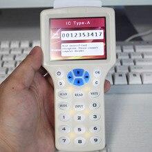 USB smart english system NFC Reader Writer 125 KHz -13.56 MHz IC/ID Card RFID Copier for uid tag Duplicator T5577