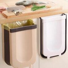 Mutifunctional Kitchen Trash Can Collapsible Car Waste Bin Garbage Sorting Storage Basket Cabinet Haning Stand Trash Large Size
