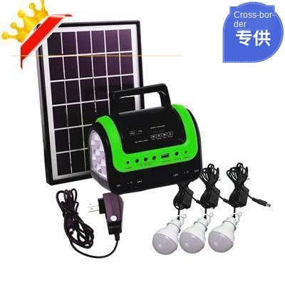 Superventas en Amazon, sistema móvil de energía Solar, tienda de campaña para exteriores multifunción, luz LED de acampada, Radio MP3
