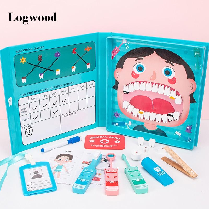 conjunto de modelos de dentista com simulacao brinquedos educativos para criancas