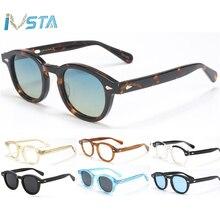 IVSTA-lunettes de soleil polarisées hommes   Lunettes de soleil de bonne qualité Style Lemtosh Johnny Depp femmes rondes en acétate de styliste