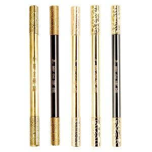 1PCS Handmade Brass Pen Creative Ruyi Gold Cudgel Stationery Metal Gel Pen Business Retro Gold Signature Pen