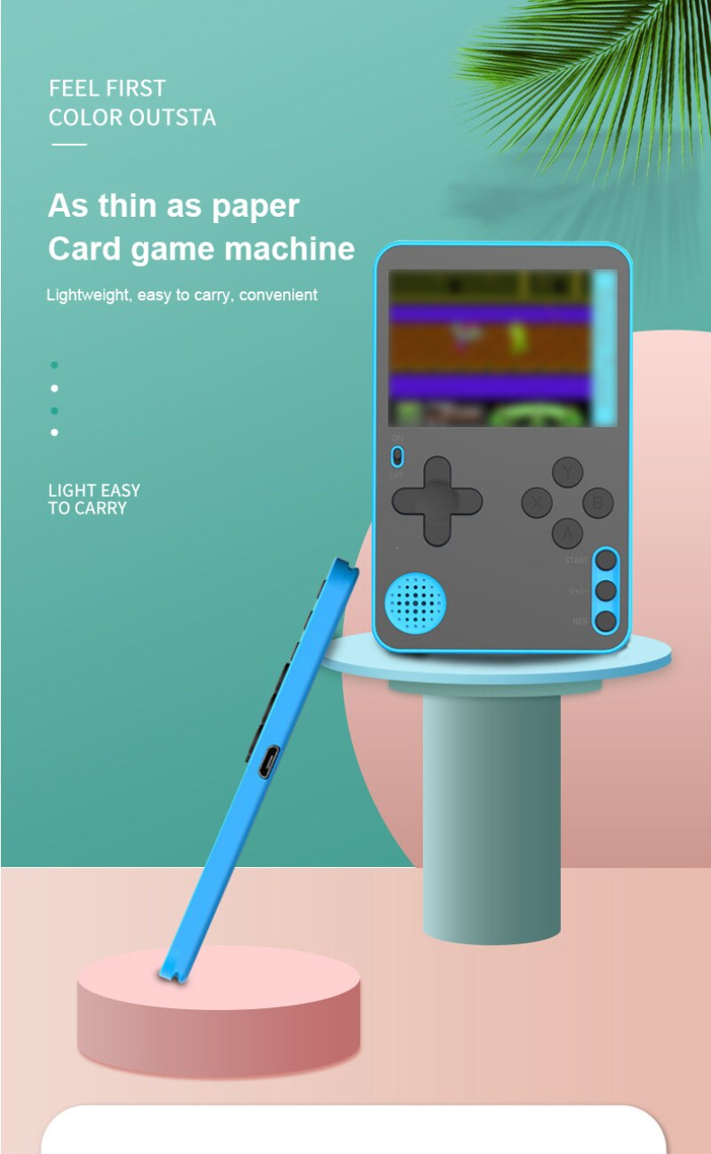 Ultra delgada de Video consola de juegos portátil reproductor de juego construido...