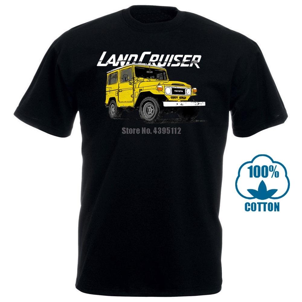 Gran oferta Fj40 Toyota Land Cruiser Camiseta Vintage de diseño de coches grandes Camiseta para hombre Streetwear Camiseta 010650