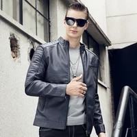faux leather motorcycle jackets mens pu jacket leather coat autumn slim fit casual male coats brand clothing new 2020 outwear 6