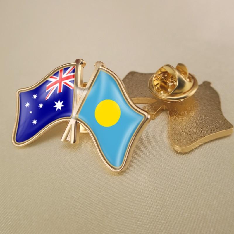 Australia e Irlanda del Norte cruzado/doble/banderas de la Amistad prendedores de solapa/broche/insignias