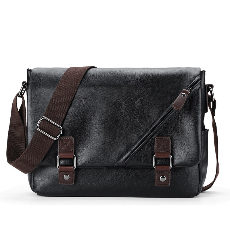 Crossbody Bags for Men 2020 New Men's Bag PU Leather Fashion Casual Men's Shoulder Bag Men's Bag Diagonal Bag Men's Leather Bag