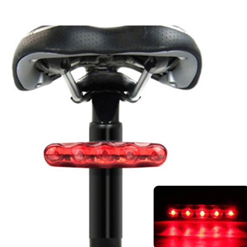 5led longo da bicicleta luzes traseiras acessórios da bicicleta sem fio lanterna da bicicleta olho de gato cauda luzes fileira piscando aviso lâmpada atacado