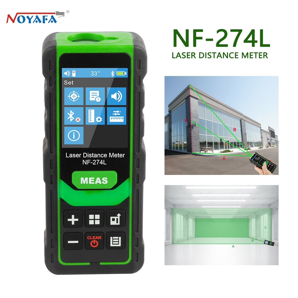 NF-274L Noyafa الليزر مقياس مسافات الإلكترونية الروليت الشريط الرقمي Rangefinder ترينا مترو المدى مكتشف قياس اختبار أداة