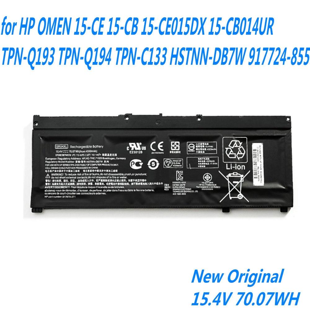 SR04XL Original Bateria Do Portátil Para HP PRESSÁGIO 15-CE 15-CB 15-CE015DX 15-CB014UR TPN-Q193 TPN-Q194 TPN-C133 HSTNN-DB7W 917724-855