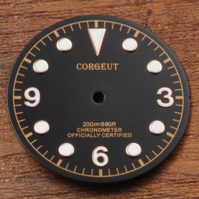 Corgeut Watch parts,30.5mm watch Dial fit Miyota 8205/8215,Mingzhu DG2813/3804 movement