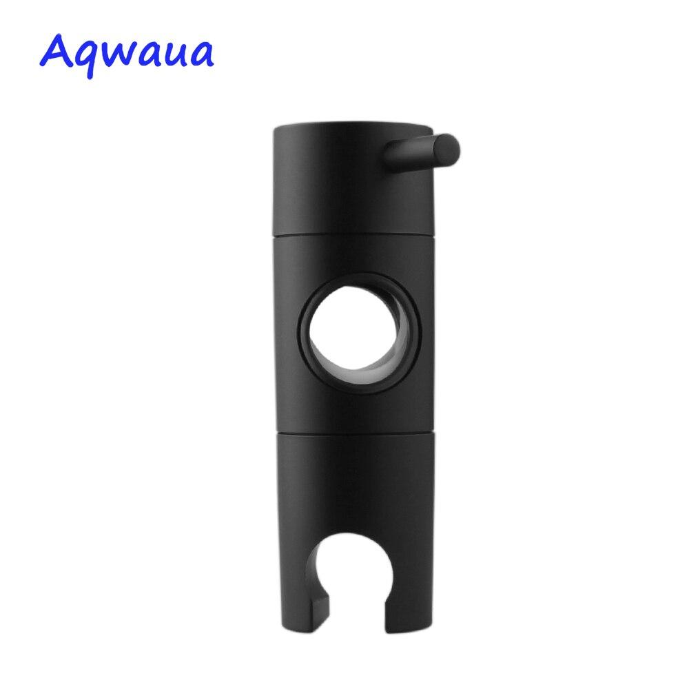 Aqwaua preto mão cabeça de chuveiro titular para barra deslizante 20-25mm altura ângulo ajustável pulverizador titular chuveiro parte de substituição
