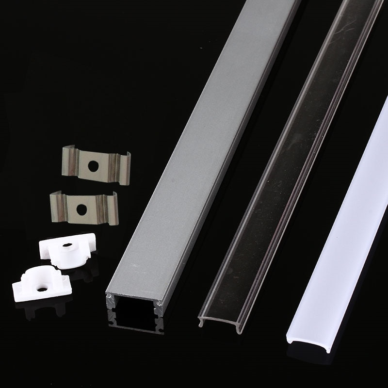 10-100PCS DHL 1m LED strip aluminum profile , for 5050 5730 hard bar light  channel housing withcover end cover