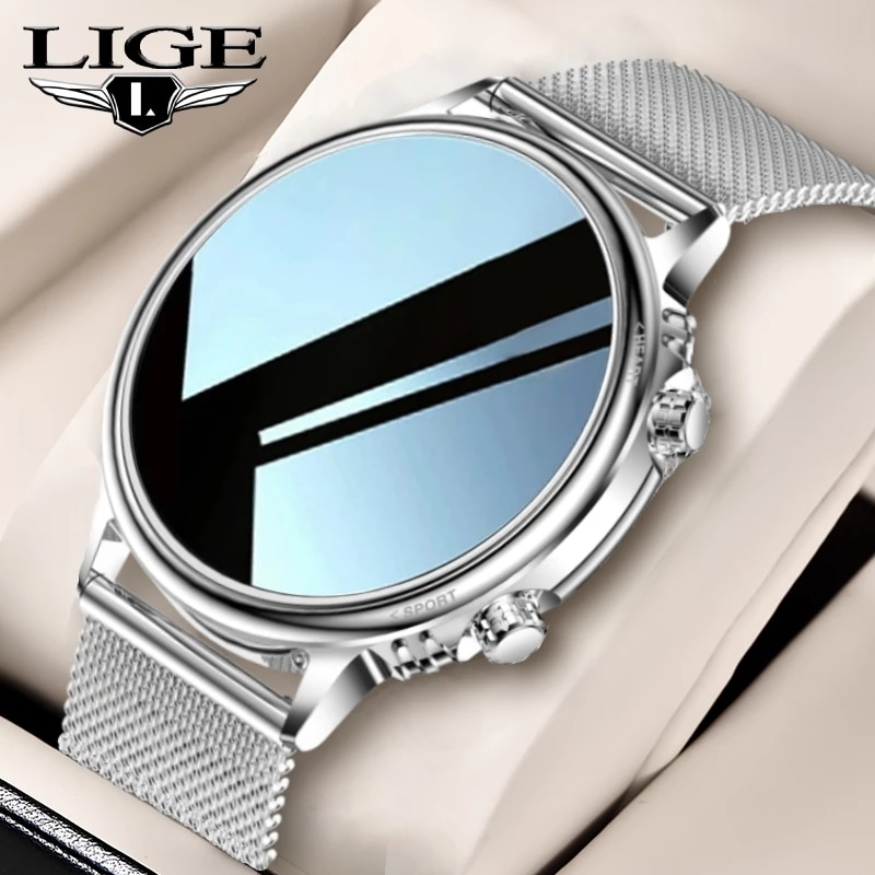 LIGE 2021 الفاخرة جديد الرجال ساعة ذكية النساء اللون شاشة تعمل باللمس الكامل جهاز تعقب للياقة البدنية الذكية مقاوم للماء ساعة السيدات ساعة ذكية ...