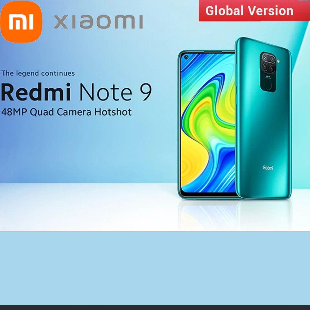 Глобальная версия Xiaomi Redmi Note 9 4G Смартфон Snapdragon 662 Восьмиядерный процессор 6,53 дюймов 48MP + 8MP 5020 мАч телефон с функцией распознавания лиц