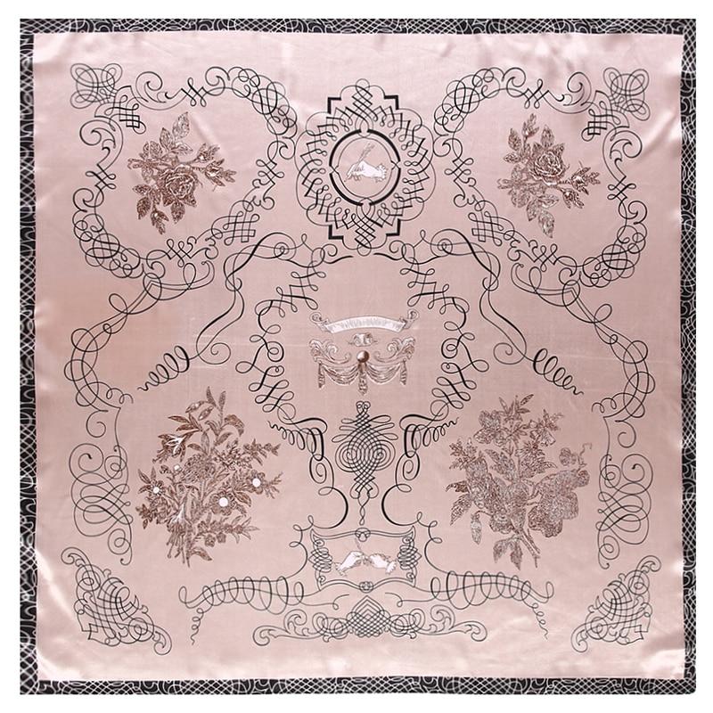 New Rich Tree Brand Winter Silk Scarf Women Neckerchief Female Kerchief Fashion Bandanna Scarves Handkerchief For Ladies Poncho