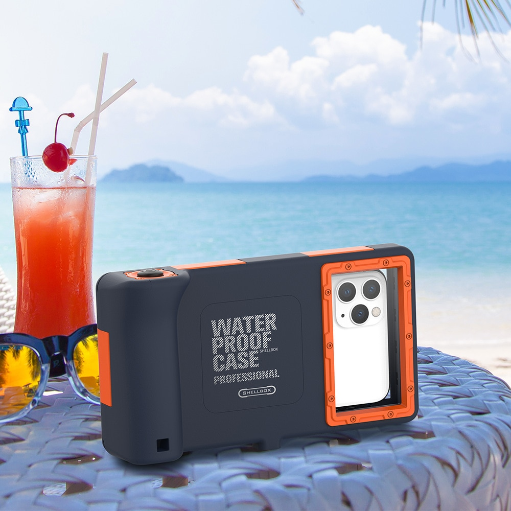 Iphone12 SE2 سلسلة الغوص الحال بالنسبة لابل سامسونج المياه العميقة اطلاق النار مقاوم للماء العالمي قضية الهاتف المحمول