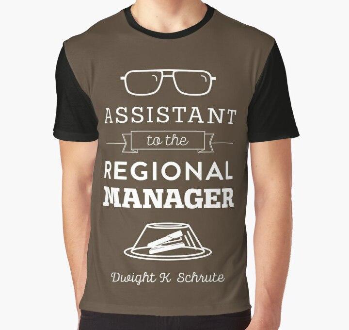 Todo imprimir T camisa de los hombres camiseta de la Oficina Dunder Mifflin-asistente del gerente Regional de impresión completa estampado grande gráfico