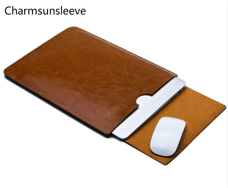 Charmsunsleeve para asus tuf gaming fx504 15.6 ultra capa de bolsa ultra-fina, capa de capa de couro de microfibra
