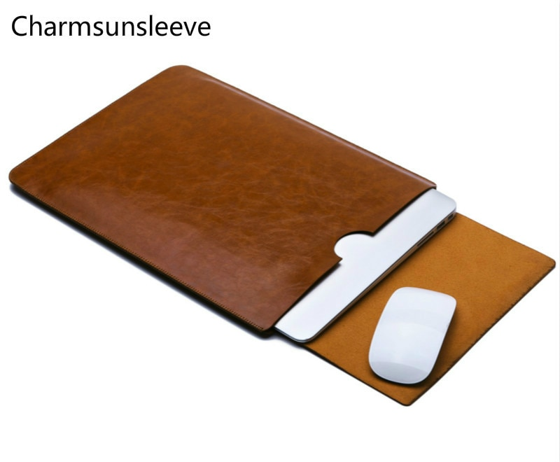 "Charmsunsleeve para microsoft surface go 10 ""portátil ultra-fino bolsa capa, capa de manga de couro de microfibra"
