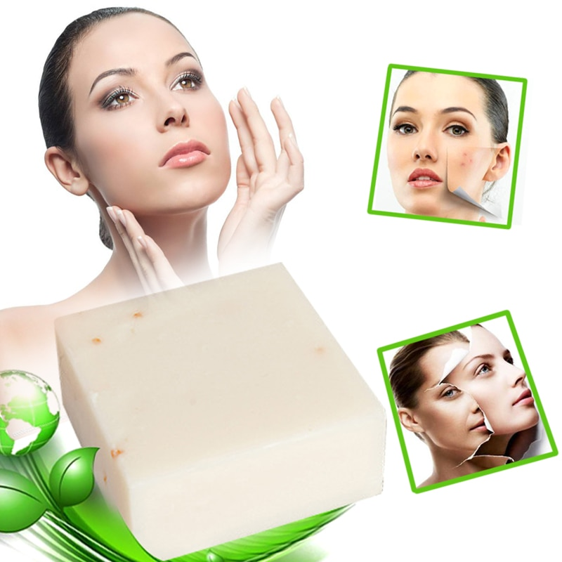 Thailand Jasmine Rice Soap Handmade Collagen Vitamin Skin Whitening Bathing Tool Rice Milk Soap Bleaching Agents Acne Sterilize
