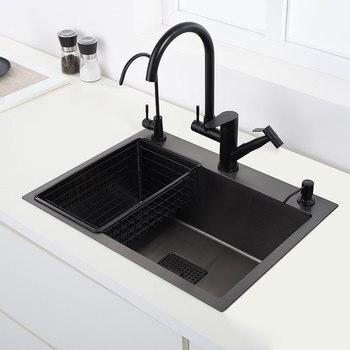 above counter or udermount Single sink kitchen