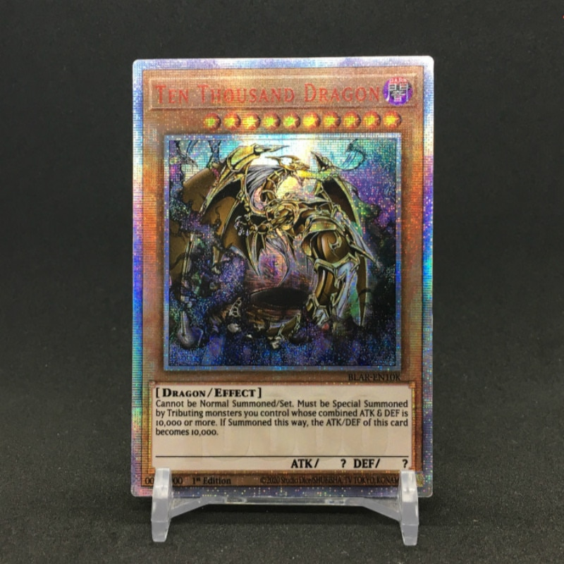 Yu Gi Oh DIY Ten Thousand Dragon English Japanese German French Toys Hobbies Hobby Collectibles Game Collection Anime Cards