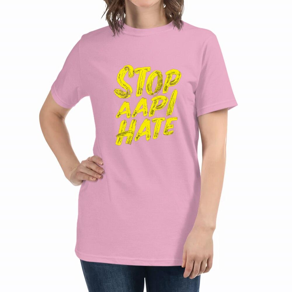 Женская футболка с принтом Stop AAPI Hate, Модная японская темпераментная одежда, летние свободные футболки, футболки оверсайз из хлопка для женщ...