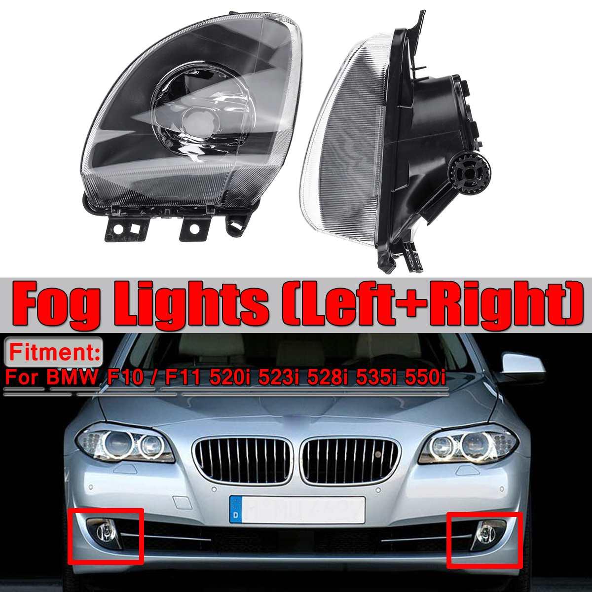 Par de faros antiniebla de coche para BMW 5 Series F10 F11 520i 523i 528i 535i 550i de repuesto sin bombillas antiniebla para coches