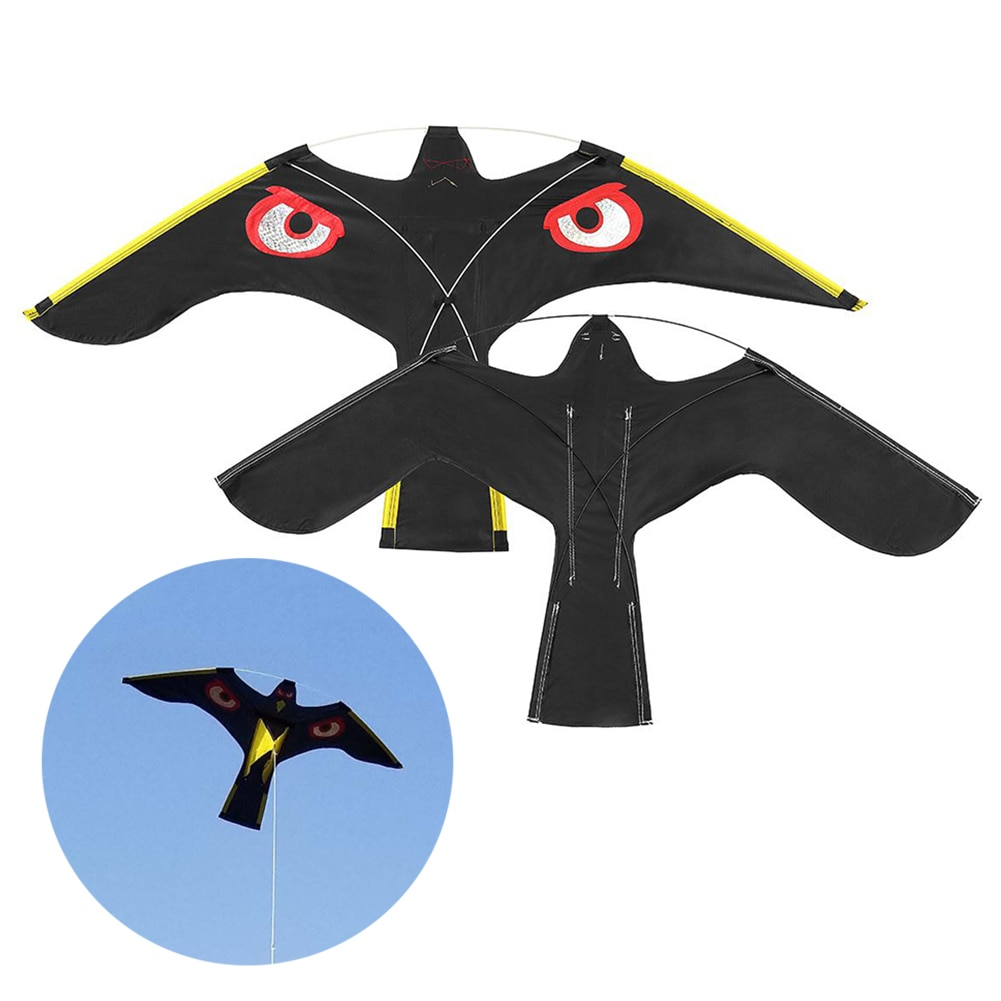 Emulation Black Bird Repellent Hawk Flying Kite Scarer Bird Repeller Pigeon Repellent Insect Pest Control For Scarecrow Garden