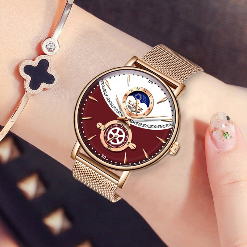 LIGE New Fashion Women Watches Top Brand Luxury Waterproof Watch Ladies Stainless Steel Quartz Wrist Watch Relogio Feminino 2020 enlarge