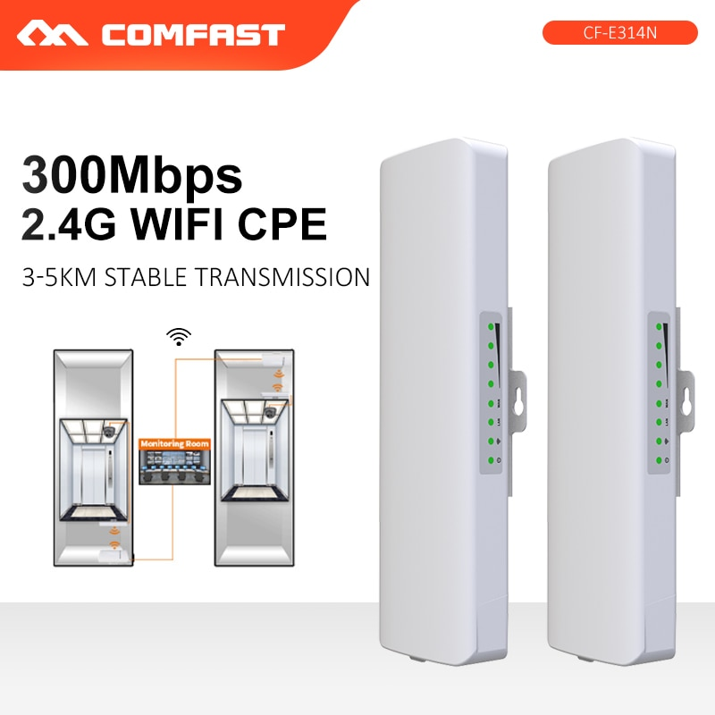 Comfast CF-E314N 300Mbps Outdoor WIFI Extender Siganl booster Amplifier 2.4G 14dBi High Gain Wifi antenna CPE bridge For IP Cam