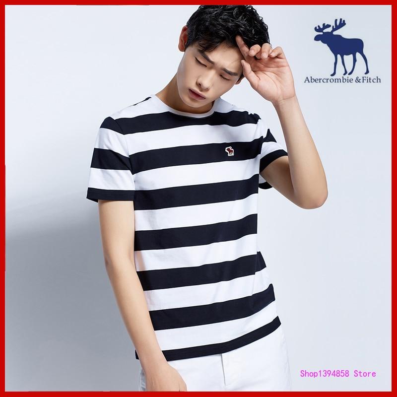 Abercrombie-& Fitch-Camiseta de marca Original para hombre, Tops de verano de manga...