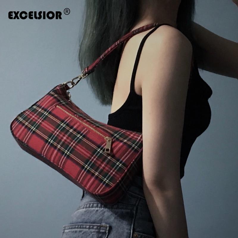 ¡Nuevo! bolso de lona suave EXCELSIOR para mujer, bolso cruzado para mujer, bolso Baguette de diseñador, bolso para mujer