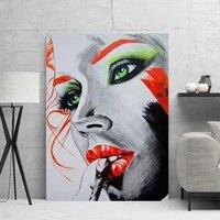 Peinture sur toile pour femmes  decoration murale  image abstraite  decor moderne  Art modulaire  affiche de chambre de fille