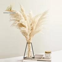 Botte de roseaux des marais  couleur blanche  fleurs naturelles sechees  Bouquet decolore  Style Boho  Vintage  pour mariage  maison  noel