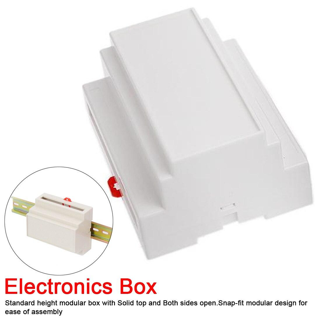 Настенное крепление бежевый пластиковый din-рейку корпус распределительная коробка электронное оборудование Промышленные корпуса коробка ...