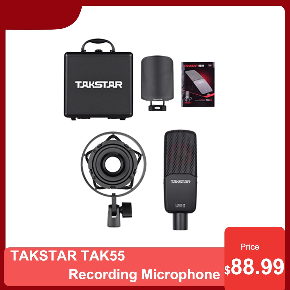 TAKSTAR TAK55 Recording Microphone 3 Pickup Patterns Professional equipment for Live Streaming Studio Vocal Instrument Recording