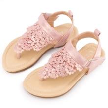 MUYGUAY Toddler Little Girls Sandals Flip Flops Open-toe Ankle Strap Summer Dress Shoes