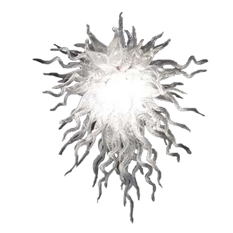 Горячая Распродажа Дешевое прозрачное стекло художественная люстра из муранского стекла освещение для виллы домашний Потолочный декор