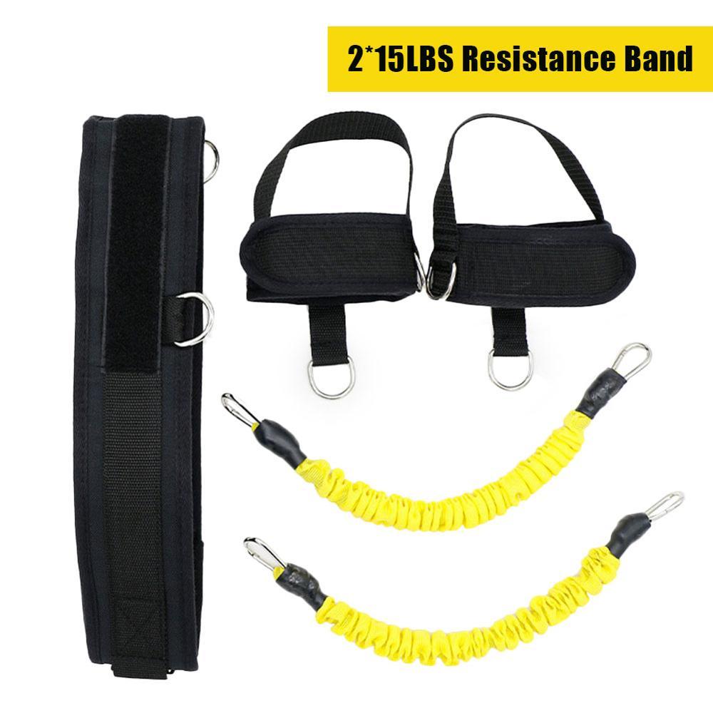 Купить с кэшбэком Fitness Resistance Bands 30lbs Latex Trainer Basketball Elastic Rope Trainer Squat Strength Hips Leg Pull Rope Fitness Equipment