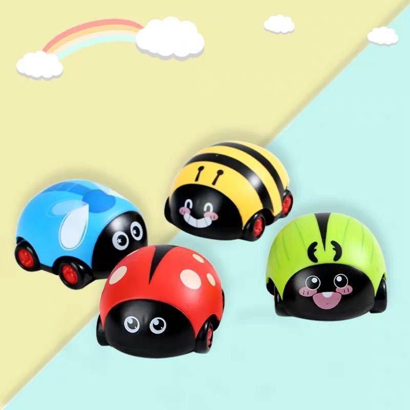 Children Toys Cute Cartoon Insect Ladybug Butterfly Bee Beetle Inertia Car Double Return Truck-Forward Or Backward Pull Back Car