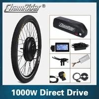 1000w 48v 52 13ah 17ah e bike electric conversion kit xf39 xf40 30h driect drive motor mxus hailong battery lcd freehub